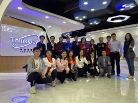 感谢深圳市电子商会莅临深圳畅想视界科技有限公司指导工作