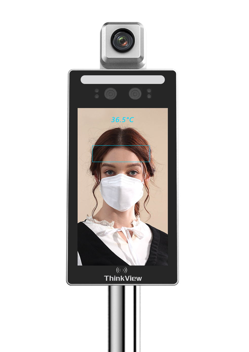 Face recognition temperature measurement, attendance, access control integrated machine